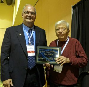Tom Smith recognized for his years of service to on the Broadcasters Clinic Committee