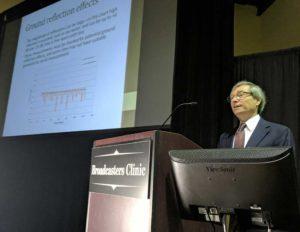 John Kean from Cavell Mertz & Associates speaks at the Broadcasters Clinic