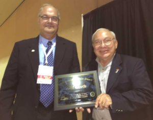 Clif Groth recognized for his years of service to on the Broadcasters Clinic Committee