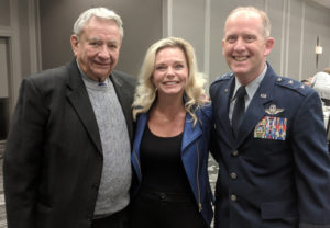 Gov. Tommy Thompson, Michelle Vetterkind, and Major General Donald Dunbar