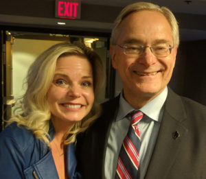 Michelle Vetterkind  with former Rep. and current DOR Secretary Peter Barca