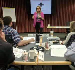 Lori Cross talking about agile strategy