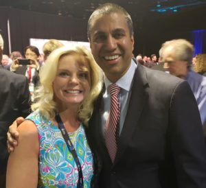 Michelle Vetterkind with FCC Chair Ajit Pai