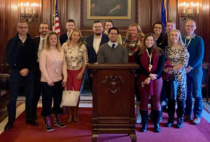 Young Professionals tour the State Senate